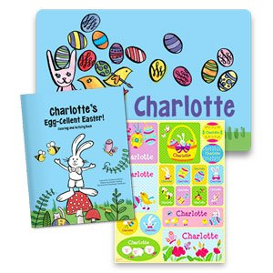 Egg-Cellent All-in-One Easter Gift Set Personalized Coloring Book, Stickers and Placemat: I See Me Personalized Books