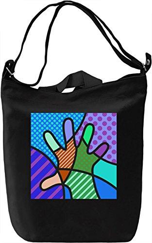 Pop Art Hand Borsa Giornaliera Canvas Canvas Day Bag  100% Premium Cotton Canvas  DTG Printing 