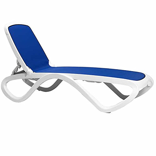 Commercial Lounge - Omega 3-pc Commercial Lounge Set by Nardi Includes: 2 Chaise Loungers and Side Table