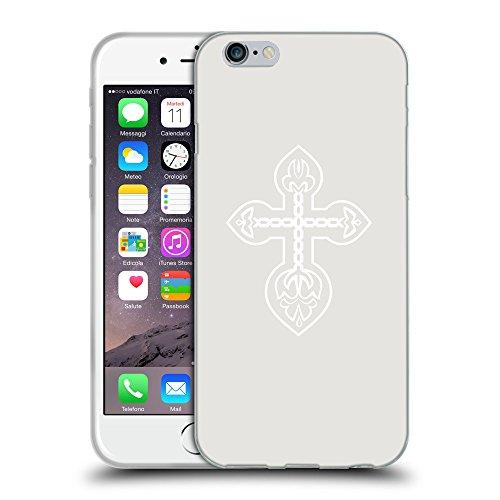 """GoGoMobile Coque de Protection TPU Silicone Case pour // Q09220631 Croix chrétienne 32 Platine // Apple iPhone 6 4.7"""""""