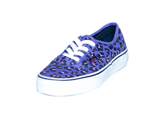 Vans Womens Authentic Skateboarding Shoes Cheetah Glitter Purple/Magenta 5 B(W) US Women Cheetah Glitter - Vans Women Cheetah