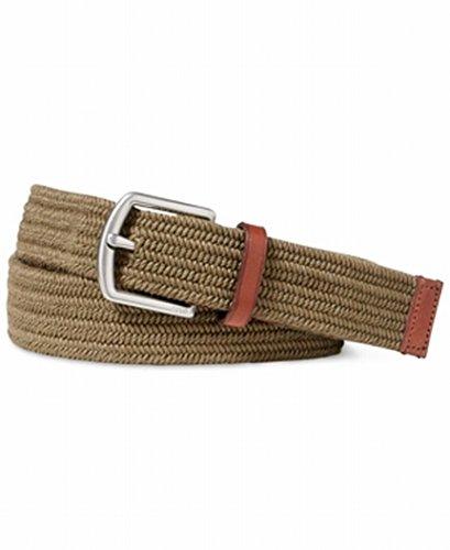 Polo Ralph Lauren Stretch Waxed Cotton Belt (Dark Green, M) - Lauren Cotton Belt