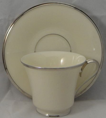 Lenox Solitaire Footed Cup & Saucer Set