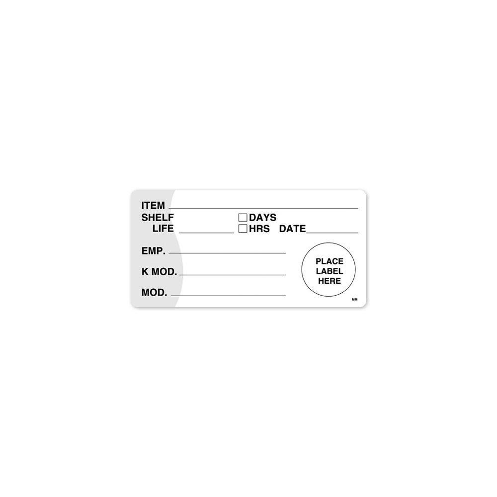 DayMark 110107 4 x 2 KMOD Shelf Life Label With Day Option - 500 / RL