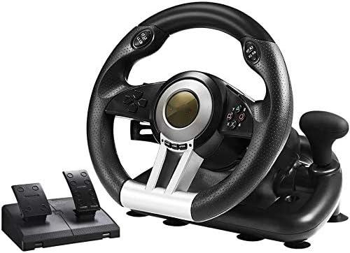 WUAZ Volante de Carreras PC, de 180 Grados USB Universal del ...
