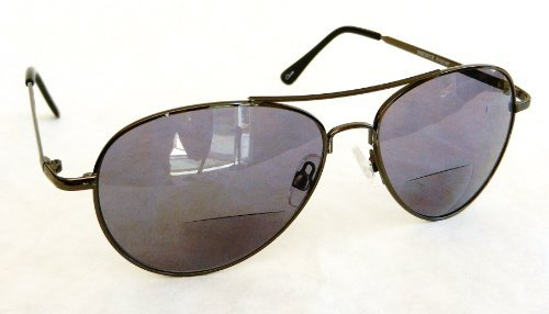 Foster Grant +1.50 Aviator BIFOCAL SUNLIGHT READER Sunglasses (300) 100% UVA & UVB Protection + FREE BONUS Cleaning Cloth by Foster - Online Readers Uva