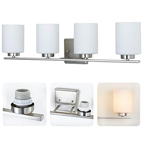 Kingbrite 4 Bulb E26 Bathroom Vanity Light Fixture ...