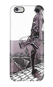 Slim Fit Tpu Protector Shock Absorbent Bumper Anime Shingeki No Kyojin Mikasa Ackerman Case For Iphone 6 Plus
