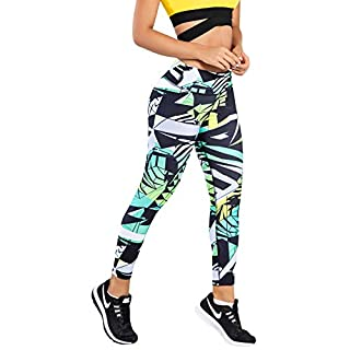 LadySlim by NuvoFit Colombian Women High Waisted Tummy Control Yoga Workout Push Up Anti Cellulite Leggings Colorful 10 L