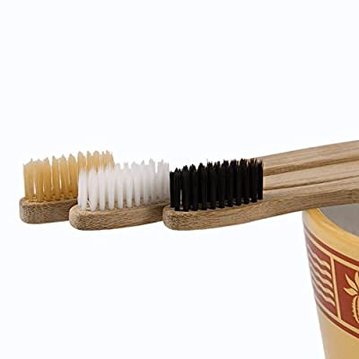 Joddie Haha 3pcs/set Environment friendly Healthy Wood Toothbrush Bamboo Tooth brush Soft Bamboo Fibre Wooden Handle Low carbon Eco