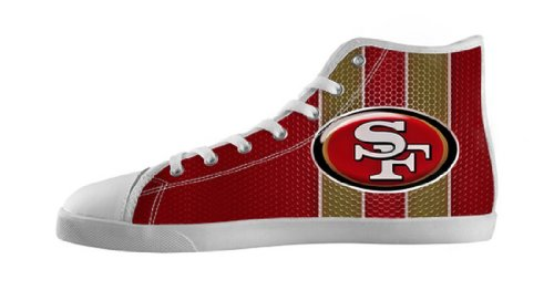 Nonslip Canvas High Top Men's Shoes with 49ers Logo for S...