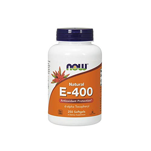 NOW Supplements, Vitamin E-400 IU D-Alpha, 250 Softgels (Iu 400 Vitamin E)