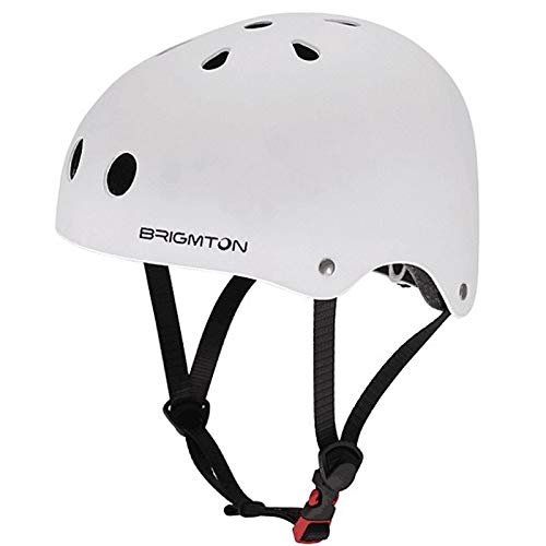BRIGMTON BH-1B-B Casco para Patinete Blanco: Amazon.es ...