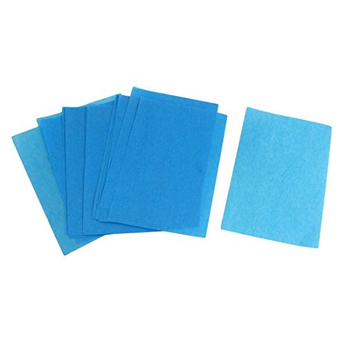 TOOGOO(R) 80 Pcs Blotting Paper Oil Absorbing Sheets Blue