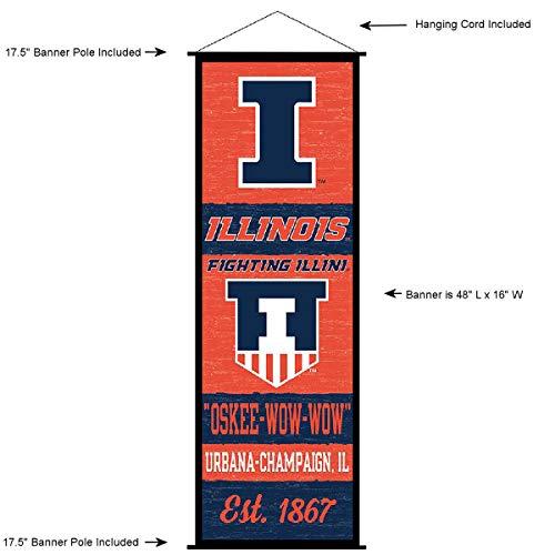 Illinois Fighting Illini Banner and Scroll ()