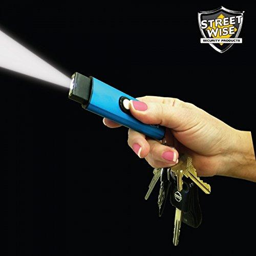 Streetwise USB Secure 22 Million Volts Key-Chain Stun Gun Blue