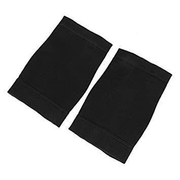 Beauty7 Skin Forearm Tattoo Cover Up Band Scar Concealer Compression Sleeve Fat Burning UV Protection (L, Black-2PCS)