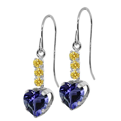 Carlo Bianca Golden Yellow 925 Sterling Silver Earrings Made With Swarovski Zirconia