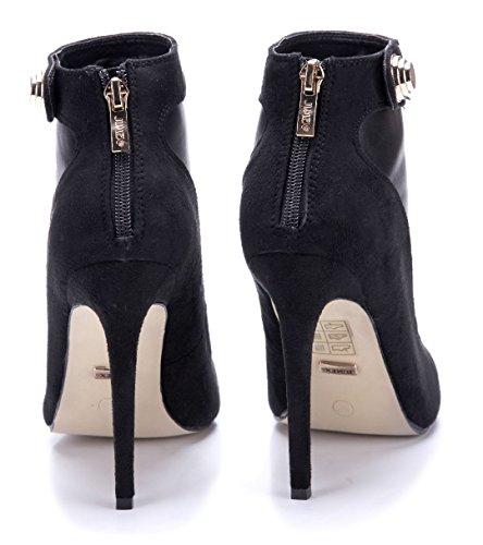 Schuhtempel24 Damen Schuhe Klassische Stiefeletten Stiefel Boots Stiletto 12 cm High Heels Schwarz