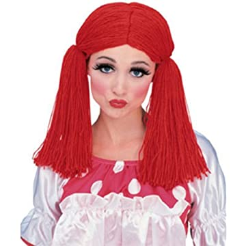 Dress Up America Girls Little Raggedy Ann Wig, red, ...