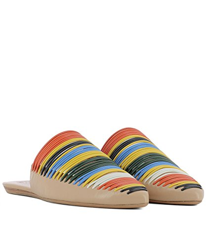 Burch Sandals Leather Women's 47126260 Multicolor Tory qw6Bvpv