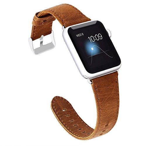 KADES Genuine Leather Apple Watch Band Crazy Horse/ Aligator Texture/ Lichi Texture