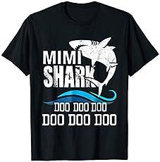 947142e3 Mimi Shark T Shirt Mother Mom Grandma Halloween Christmas