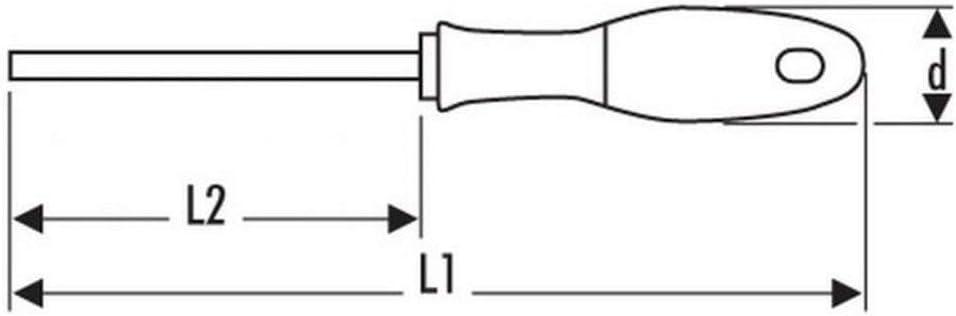 EXPERT E161108 Pr/äzisionsschraubendreher f/ür Schlitzschrauben 3x40 Mm
