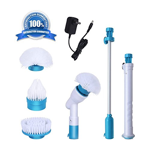 Electric Spin Scrubber Bathtub and tile bathroom scrubbers 3 Head Sets for Multi-Purpose Uses(floor wall bathroom and kitchen)Easy Way to Scrub