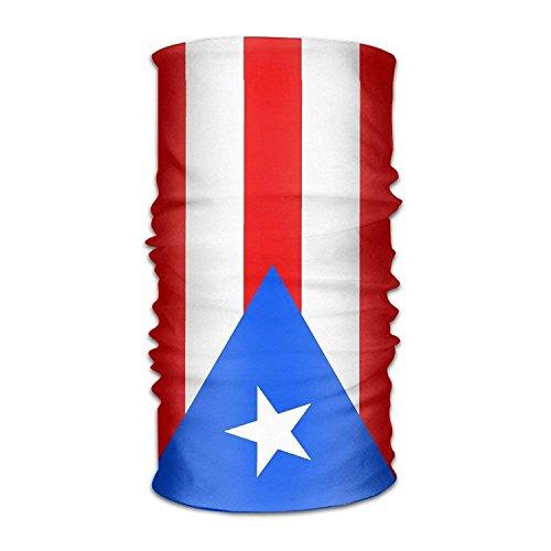Doormat shirts Headband Bandanas Flag of Puerto Rico Versatile Sports Headwear Neck Gaiter Balaclava Helmet Liner Riding Face Mask for Kids Women Men Outdoors UV Protection