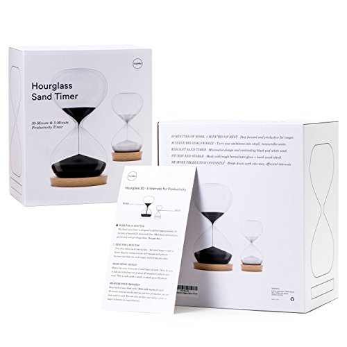 OrgaNice Hourglass Sand Timer - Designed for Hardworking Americans - 30-Minute & 5-Minute Productivity Timer - Get More Stuff Done - Prevent Burnout - Achieve Goals Faster [Gift-Ready Packaging]