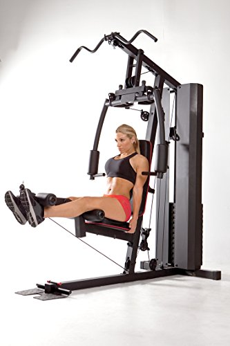41kkOpVBzdL Marcy Stack Dual Function Home Gym – 200 lb. Stack MKM-81010
