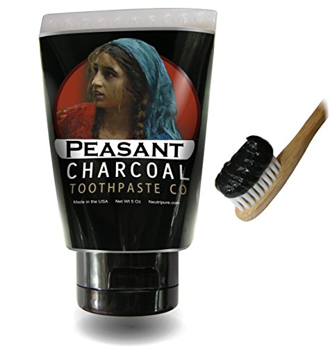 Activated Charcoal Toothpaste for Natural Teeth Whitening with Peppermint Essential oil ()