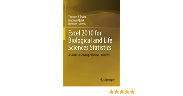 Excel 2010 for Physical Sciences Statistics: A Guide to Solving Practical Problems