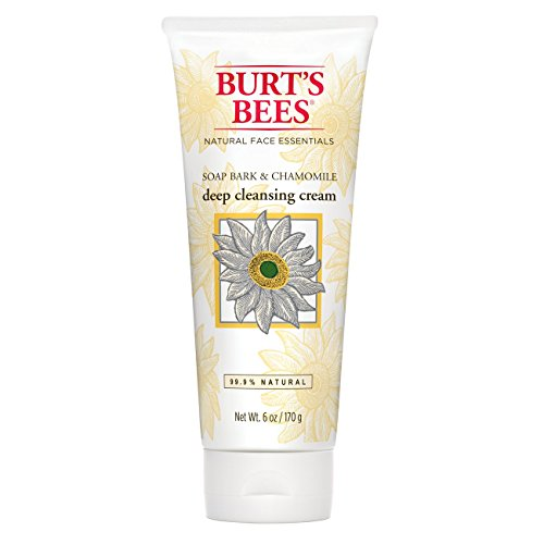 Burt's Bees Soap Bark and Chamomile Deep Cleansing Cream, 6 Ounces (Pack of 3)