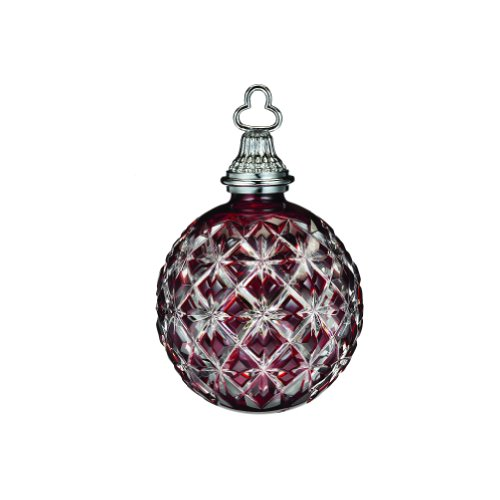 Waterford Annual Ornament Crystal (WATERFORD Annual 2013 Annual cased ball ornament ruby)