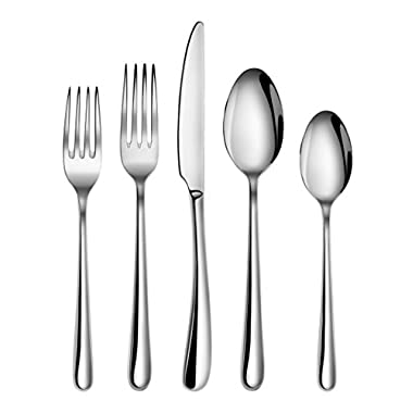 Artaste 56525 Rain II Forged 18/10 Stainless Steel Flatware 20 Piece Set, Service for 4, Silver