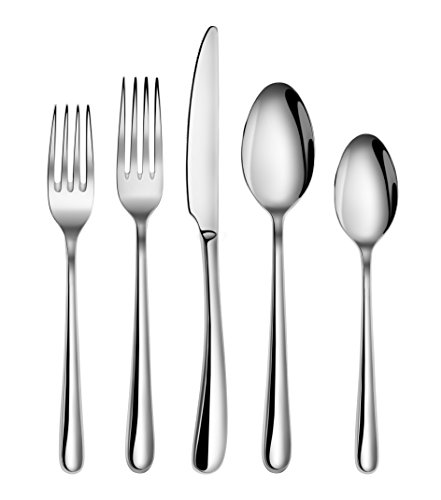 Artaste 56525 Rain II Forged 18/10 Stainless Steel Flatware 20 Piece Set, Service for 4, (Forged Stainless Steel Flatware Set)