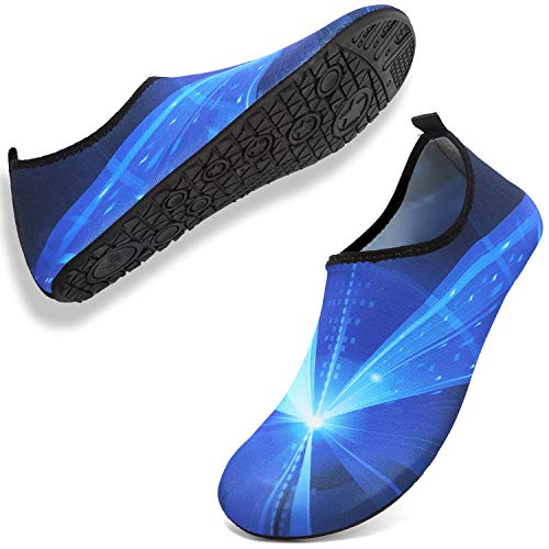 ANLUKE Womens Mens Water Shoes Barefoot Quick-Dry Aqua Socks for Beach Swim Surf Water Sport