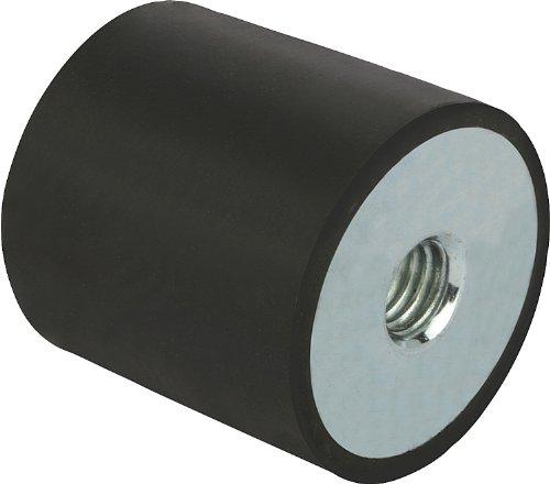 Kipp 26104-05005055 Galvanized Steel/Elastomer/Natural Rubber Metal Buffer, Style C, Metric, M10 Thread, 50 mm Diameter, 50 mm Height