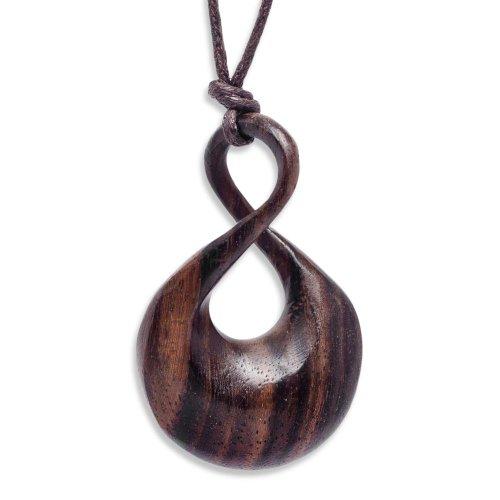 81stgeneration Women's Men's Wood Brown Single Twist Maori Tribal Adjustable Pendant Necklace