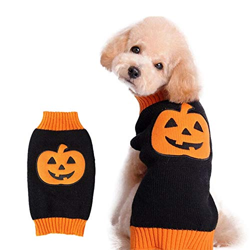 Albabara Dog Cat Sweater Pumpkin Pet Sweaters Pet Clothes, Dog Knitwear, Dog Apparel, Pet Sweatshirt -