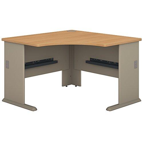 Bush Business Furniture Series A 48W Corner Desk in Light Oak and Sage - Modular Corner