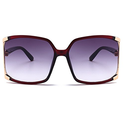 New Women's Oversized Square sunglasses Protection eye glasses Goggles+Glasses Case