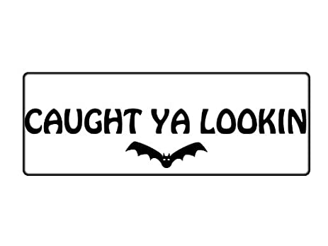 Caught ya lookin vinyl car decal white