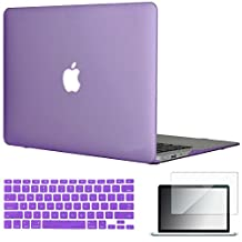 "Easygoby 3in1 Matte Frosted Silky-Smooth Soft-Touch Hard Shell Case Cover for 13-inch MacBook Air 13.3"" (Model:A1369 / A1466) + Keyboard Cover + Screen Protector - Purple"