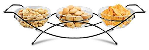 Kovot Elegant Condiment Server and Dip Bowl Set, -