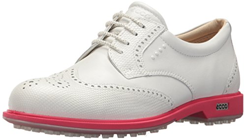 ECCO Women's Classic Hybrid Golf Shoe, White/Teaberry, 41 M EU (10-10.5 US)