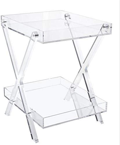 LIKENOW Furniture Acrylic Rectangular Tray Table