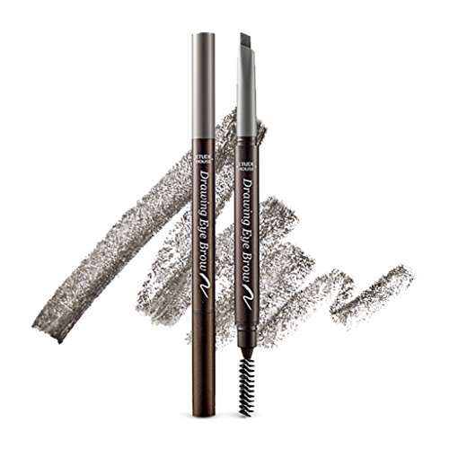 ETUDE HOUSE Drawing Eye Brow 0.25g #5 Grey - Long Lasting Eyebrow Pencil. Soft Textured Natural Daily Look Eyebrow Makeup